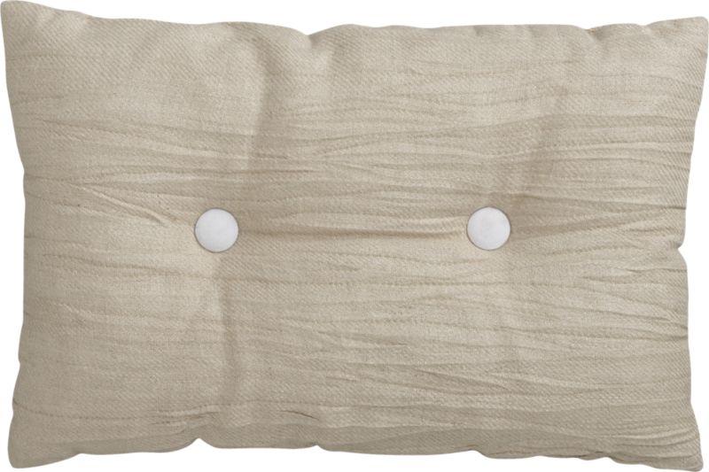 "double button-up white 18""x12"" pillow"