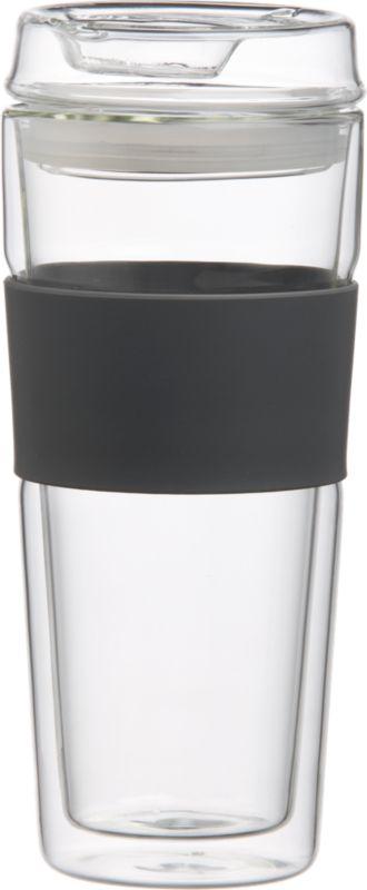 double wall glass commuter mug