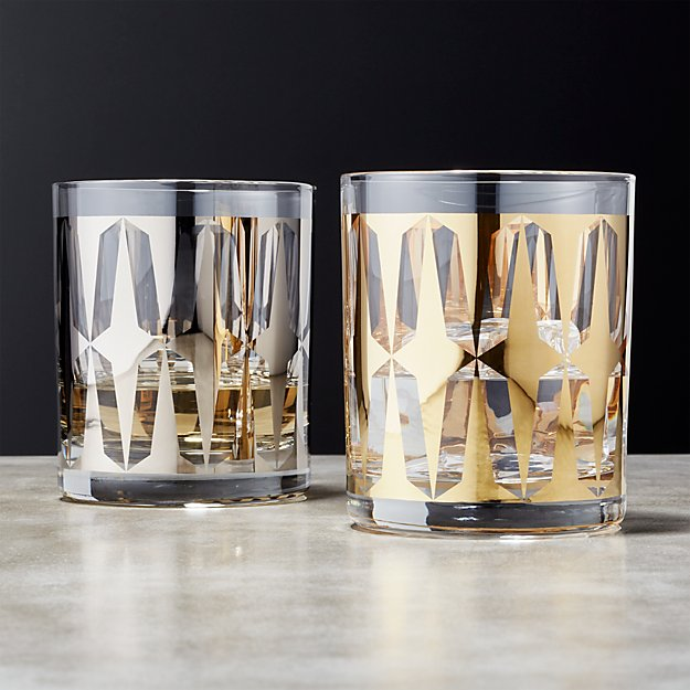 Drake Metallic Double Old-Fashioned Glasses