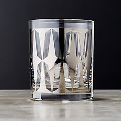Drake Metallic Platinum Double Old Fashioned Glass