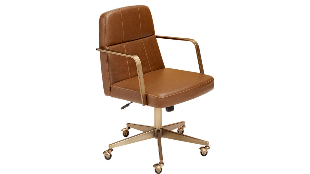 ... Draper Faux Leather Office Chair ...