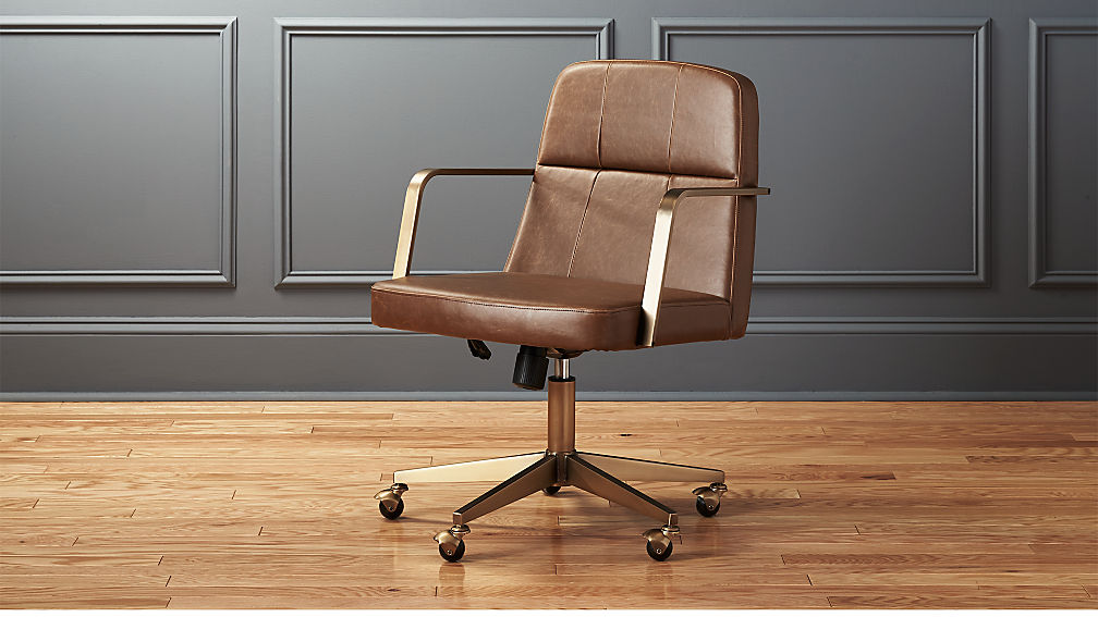 leather office. draper faux leather office chair