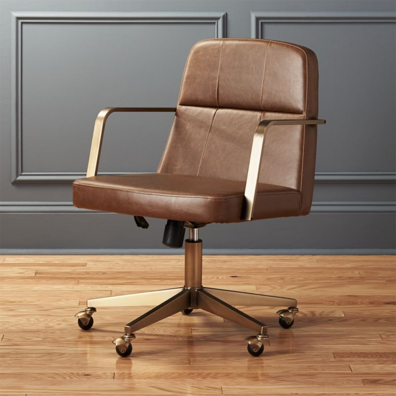 draper faux leather office chair - Leather Office Chairs