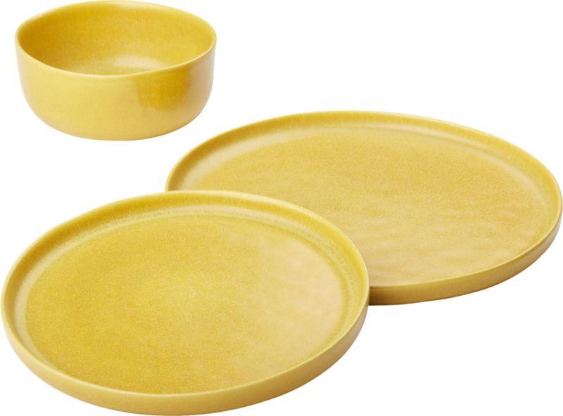 Online Designer Dining Room Drift Matte Yellow Dinner Plate