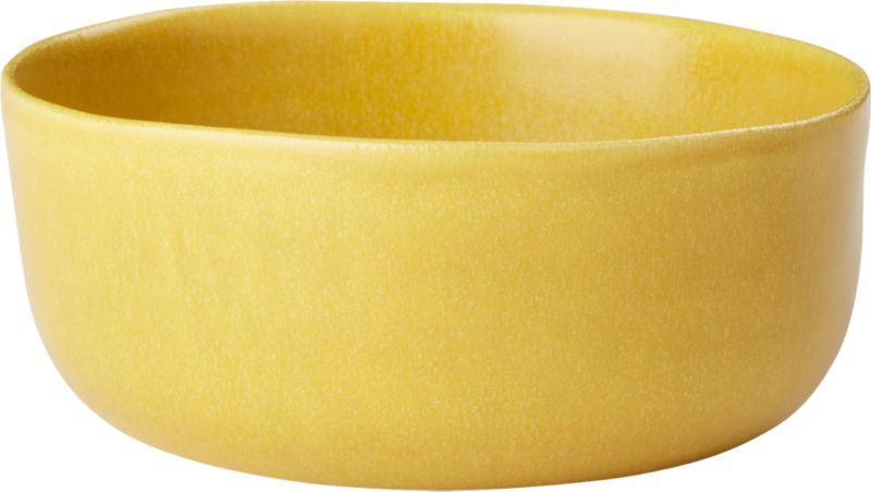 Online Designer Dining Room Drift Matte Yellow Soup Bowl