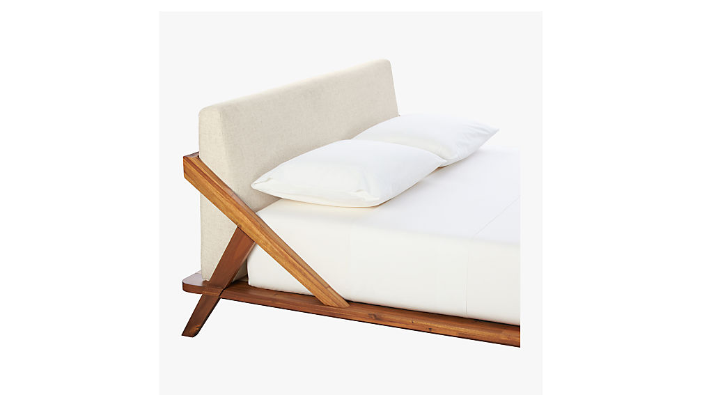 drommen acacia wood twin bed