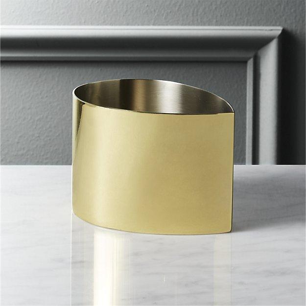 drop gold bowl