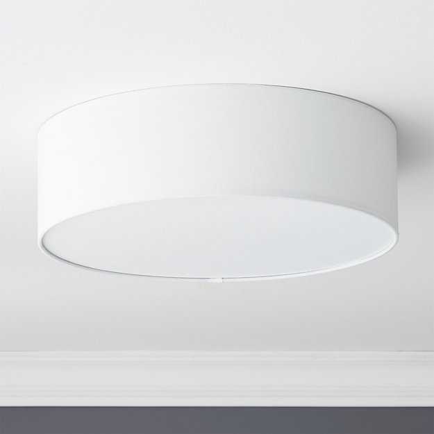 drum flush mount lamp CB2