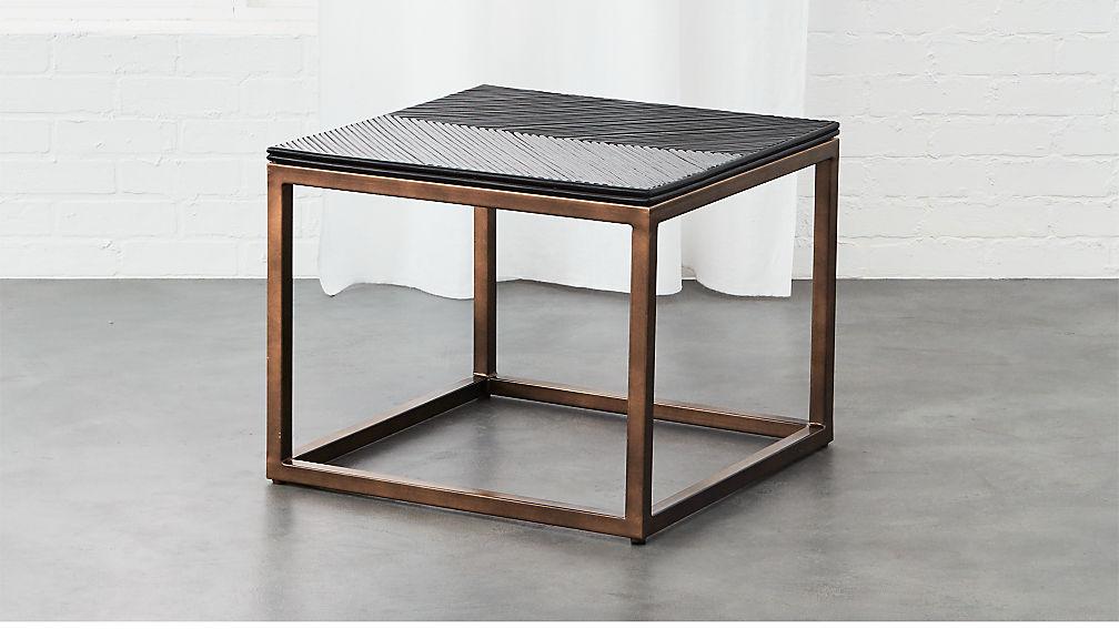 Du Monde Rattan Side Table