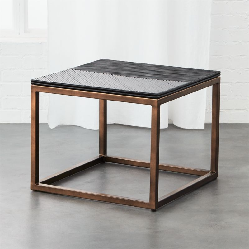 Du Monde Rattan Side Table