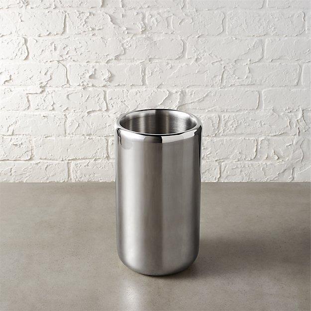 duke stainless steel wine chiller