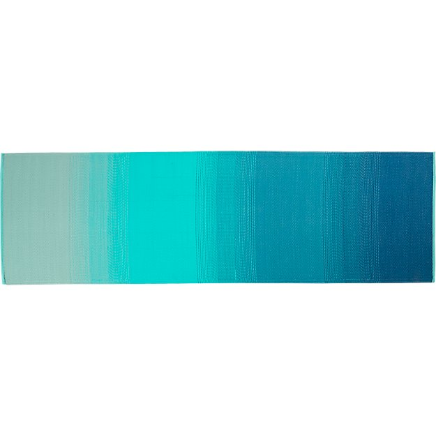 dusk blue-green outdoor runner 2.5'x8'