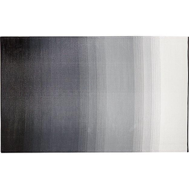 Dusk black white outdoor rug 5 39 x8 39 cb2 for Cb2 indoor outdoor rug