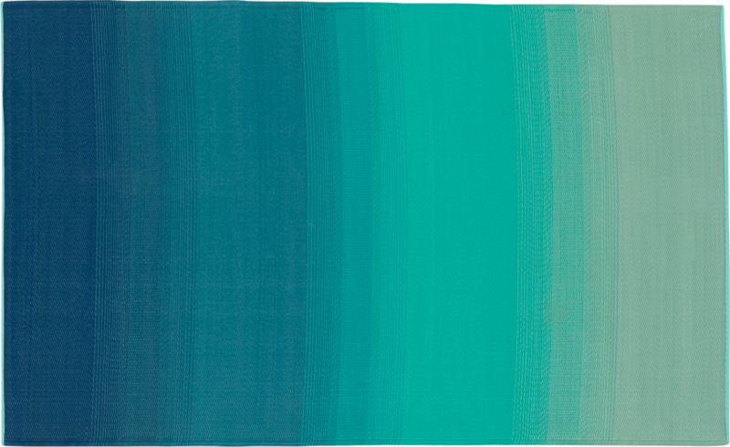 Dusk Blue Green Outdoor Rug 5u0027x8u0027 | CB2