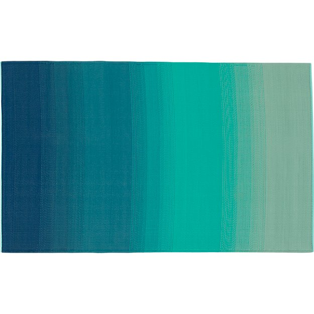 dusk blue-green outdoor rug 5'x8'