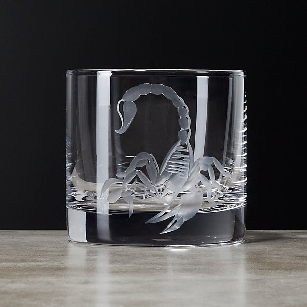 Dwayne Etched Cocktail Glass CB2 : dwayne etched scorpion double old fashioned glass from www.cb2.com size 625 x 625 jpeg 50kB