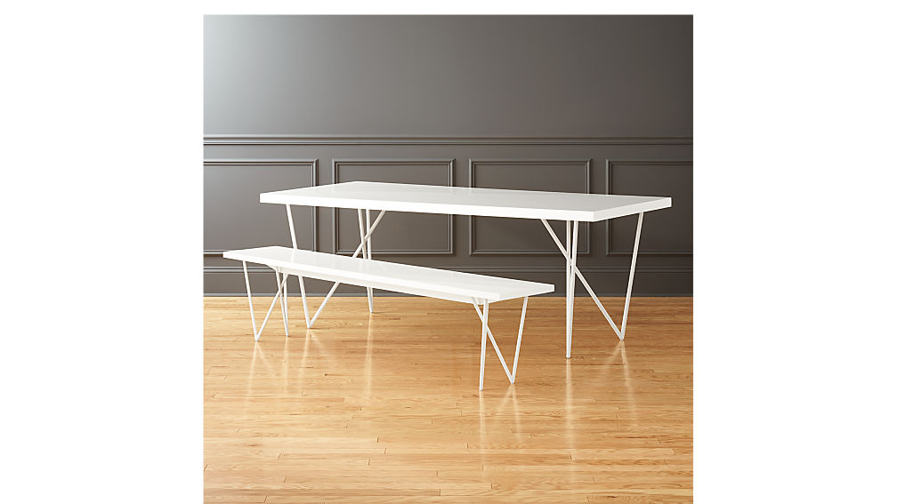 """Dylan 36""""x80"""" White Dining Table"""