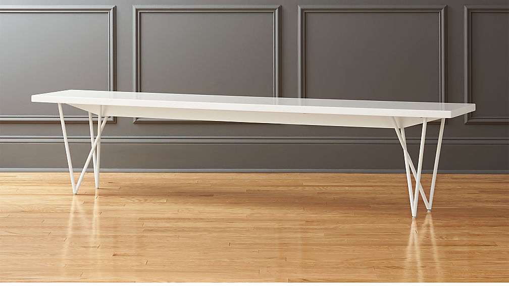 "Dylan 80"" White Bench"
