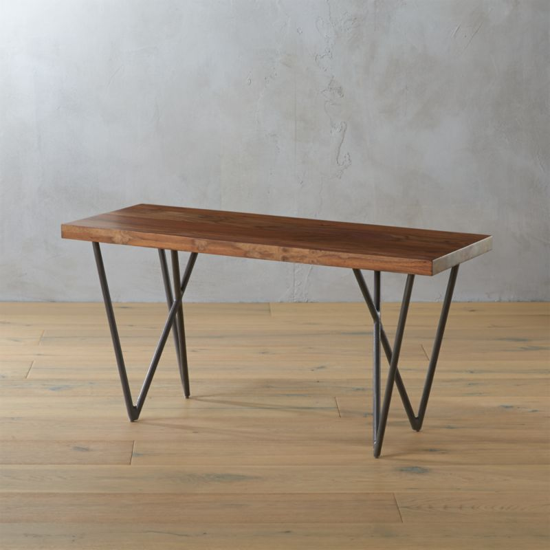 dylan 36 small wooden bench CB2