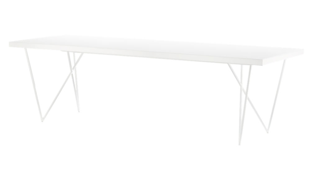 """Dylan 36""""x104"""" White Dining Table"""