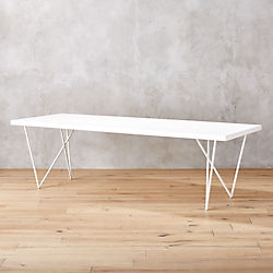 "Dylan 36""x104"" White Dining Table"