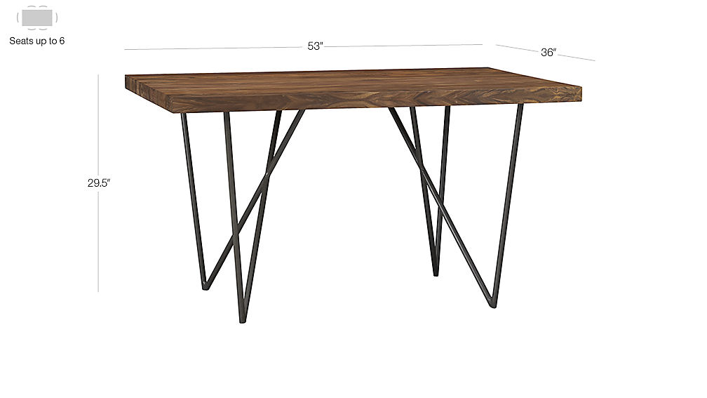 Dylan 36x53 Small Wood Dining Table Cb2