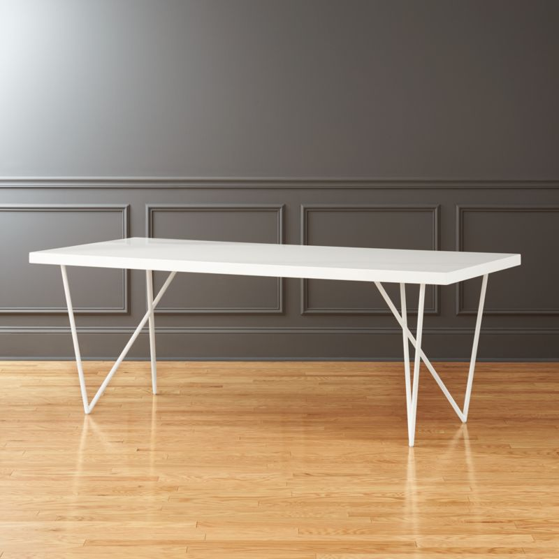 Dylan 36 x80  White Dining Table. white lacquer furniture   CB2