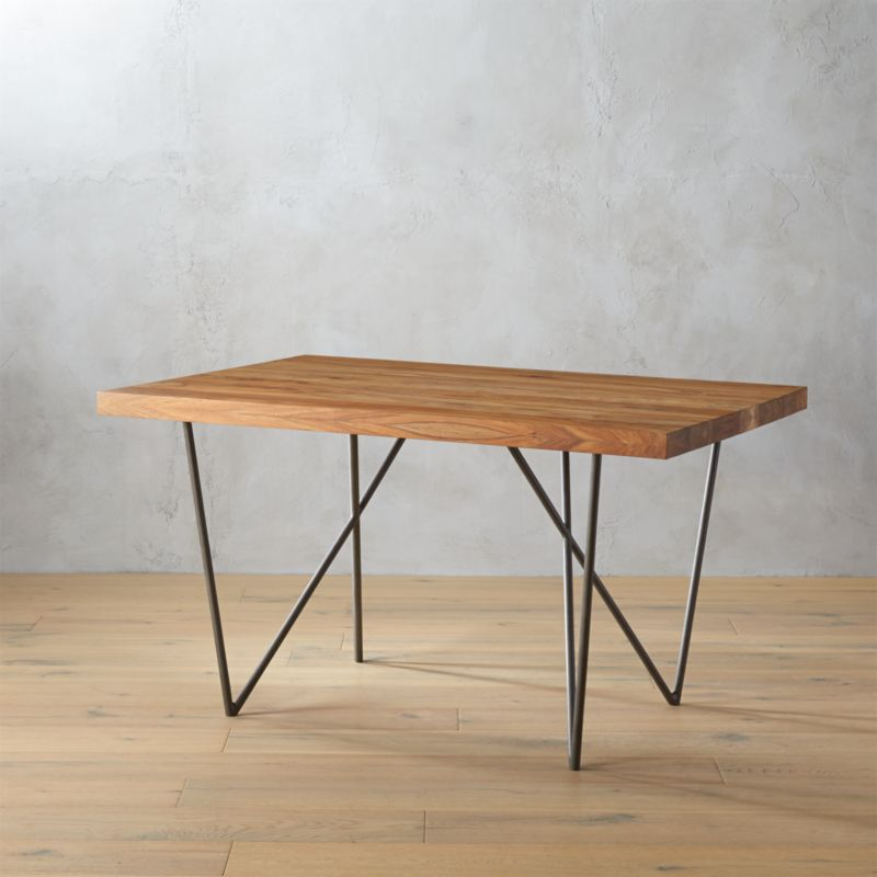 . dylan 36x53 small wood dining table   CB2