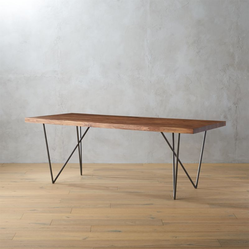 Superior Dylan 36x80 Sheesham Wood Dining Table | CB2