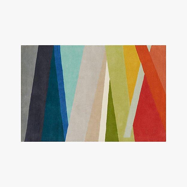Banded Multicolor Stripe Rug 6'x9'