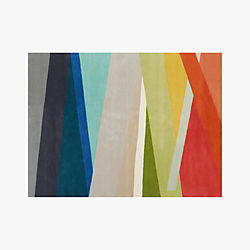 Banded Multicolor Stripe Rug 9'x12'