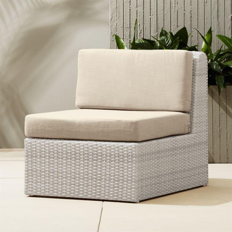 Ottoman Coffee Table Cb2: Ebb Armless Sectional Chair + Reviews