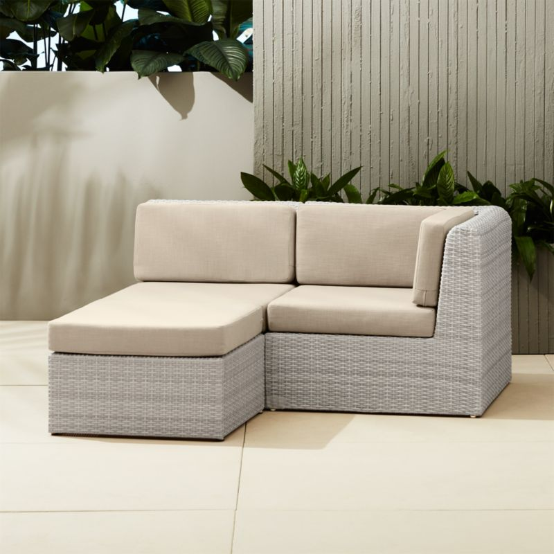 ebb small outdoor sectional | CB2