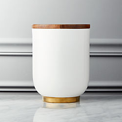 Echo Medium White and Gold Canister