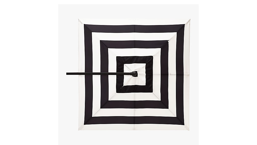 eclipse black and white stripe umbrella shade