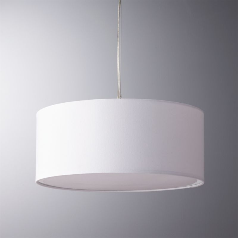 eden white pendant light in pendant lights Reviews CB2