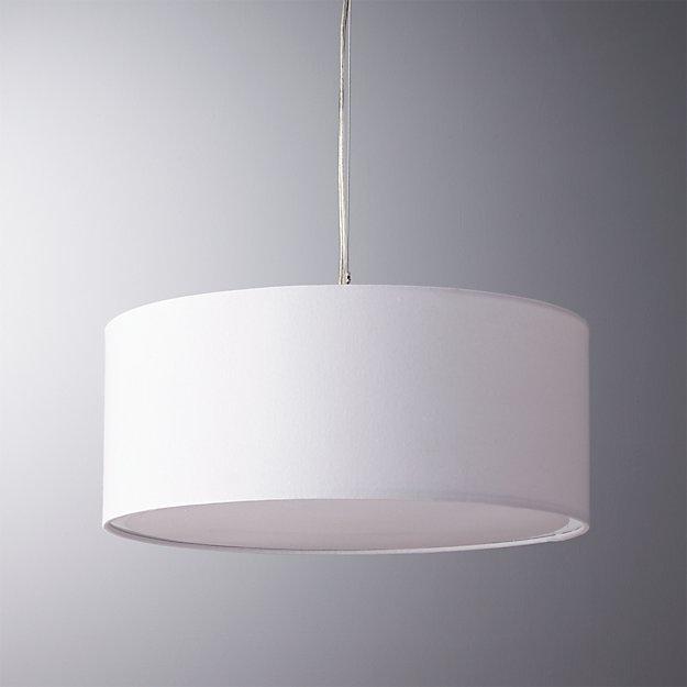 eden white pendant light - Eden White Pendant Light CB2