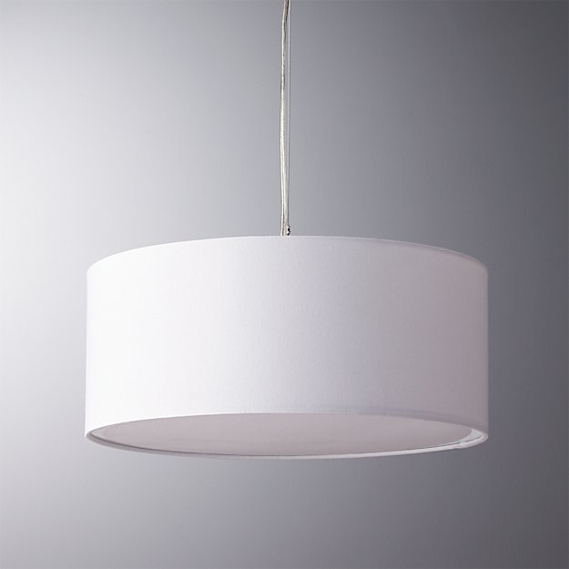 Eden White Pendant Light Cb2