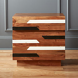 Edie Marble Inlay Nightstand