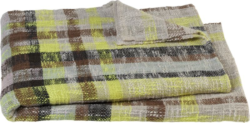 edin plaid throw