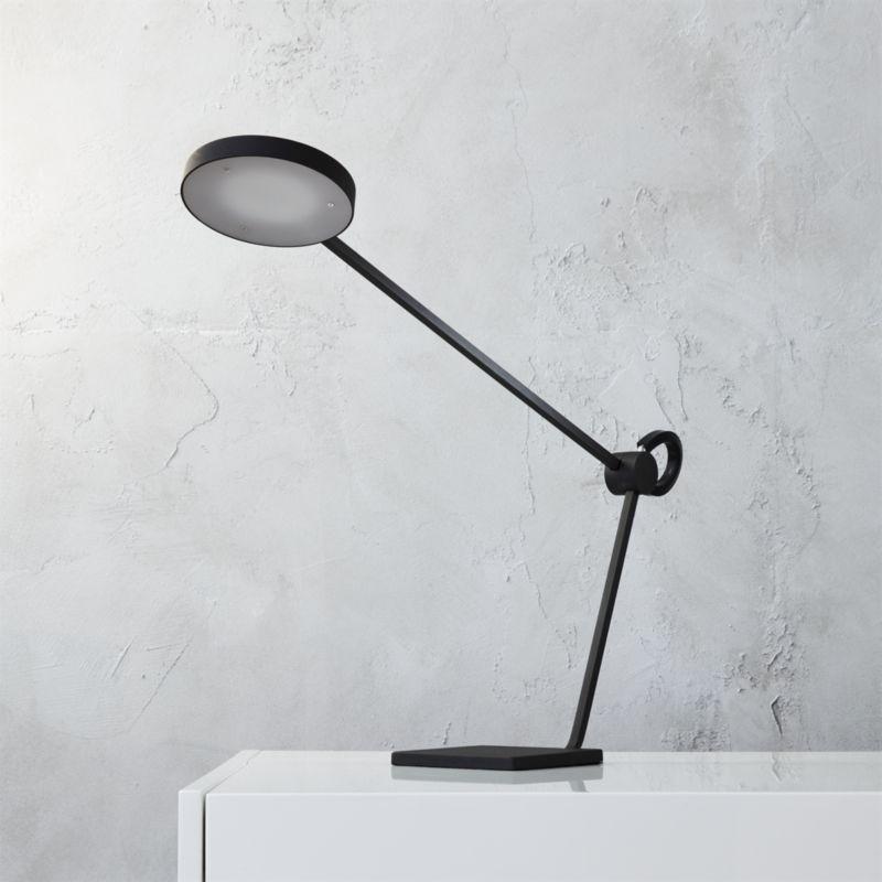 - Eiko Matte Black Task Lamp CB2