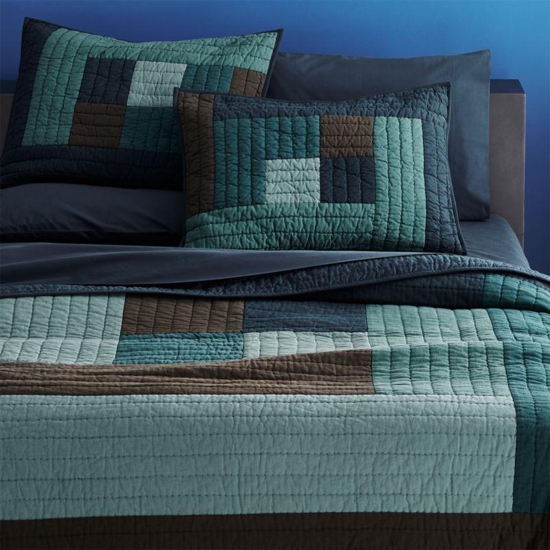 El Mar Blue Bedding