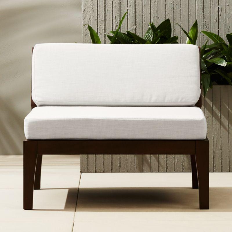 Elba Outdoor Armless Chair | CB2