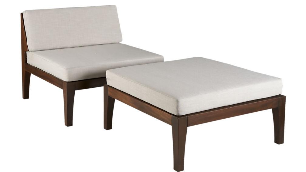 elba-java armless chair cover