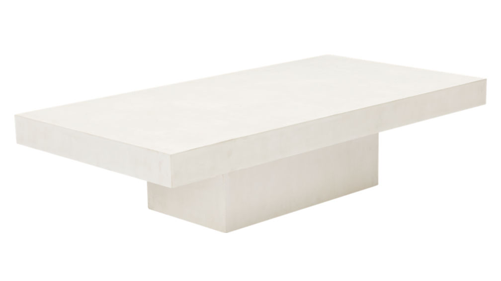 element ivory white rectangular coffee table