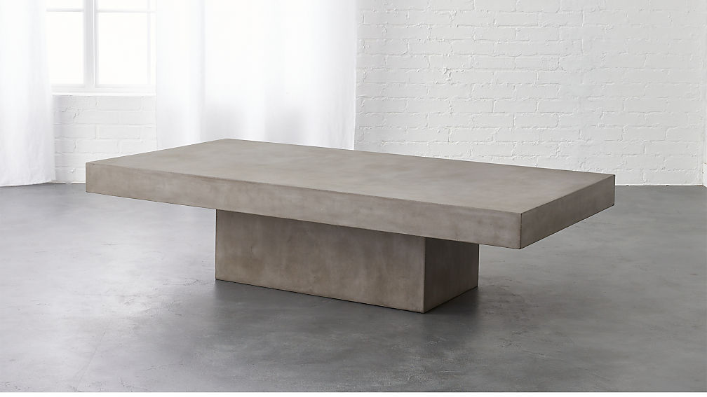 Element Rectangular Grey Concrete Coffee Table In Coffee