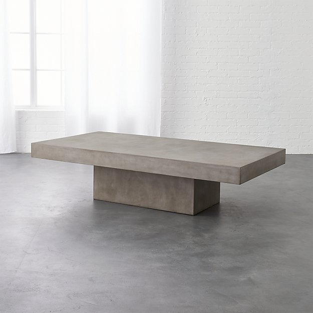 Cb2 Mid Century Coffee Table: Element Rectangular Grey Concrete Coffee Table