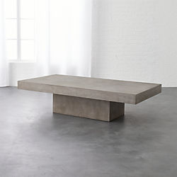 element rectangular grey concrete coffee table