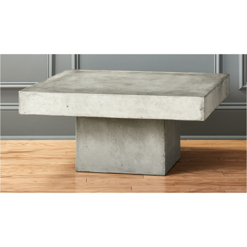 element cement top coffee table CB2