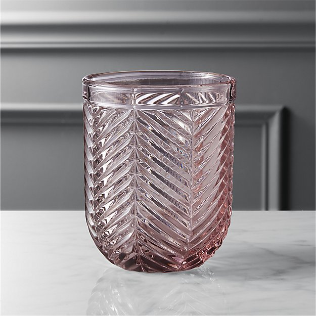 Eloise Light Pink Double Old Fashioned Glass Cb2